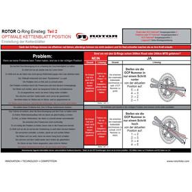 Rotor Q-Rings 110 BCD Aero Road Chainring Set 50/36